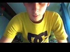 18yo Cute Str8 Italian Boy 1stTime Fingering His Hot- GayDudeCams.com