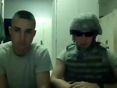 Military guys jerking it - GayDudeCams.com