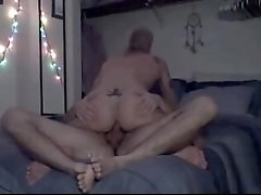 Dilf sucks and rides his twink boyfriend