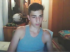 Greek Cute Boy With Big Cock Masturbation On Webcam
