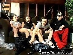 Uncut men gay porn Garage Smoke Orgy