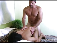 Daddy Fucks Asian Twink Virgin