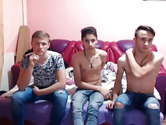Three Romanian Boys With Nice Cocks On Cam