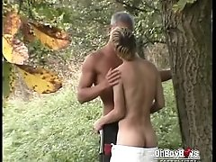 Horny twinks goes hot bareback under the sun