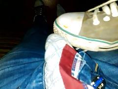 Emo boy fuck his sneakers