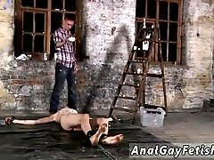 Large blond hairy chested gay cocks Chained to the warehouse floor and