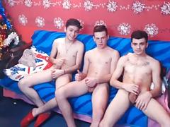 3 Athletic Romanian Bi Boys Have Fun On Cam