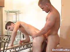 Gay jock assfucks twink who just wont leave