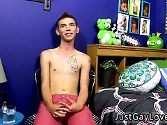 Gay boy have sex Sexy youthfull twink model Bentley is brand fresh to the