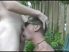 Twinks Eion Reilly and Joey Landis Fuck Outdoors