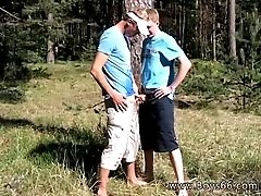 Young gay teen big dick masturbating Roma and Artur Piss Play Outside