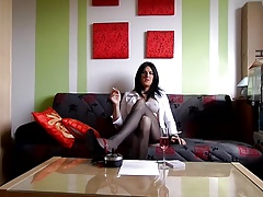 sandralein33 Smoking in secretary look