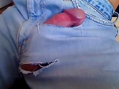 Hanfree Cum in Jeans