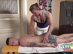 Hunk Trent Tarzan massages and raw fucks twink Tom Uli