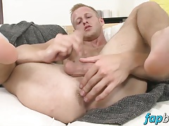 Hot Denis Reed working out a messy load out of his balls