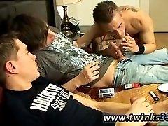 Nude boy gay porn young man Double Fucked Smoke Sex!