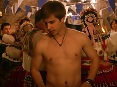 Actor Jan Brozek's  musical style striptease
