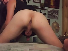 twink bottom trying out new anal toys