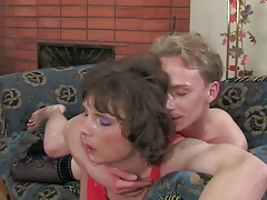 Amateur CD Crossdresser Gets Fucked By A Teen