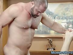 Barebacked mormon jizzes