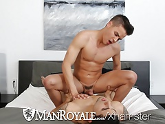 HD - ManRoyale Super hot twink get fucked by security guard