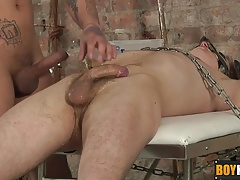Mickey gives boy slave Zac a good shaving and anal fuck