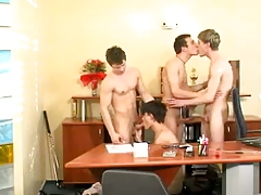 TEEN gay  4SOME