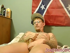 Tattoed Ivy drains his balls of jizz