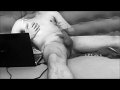 Young straight or bi amateur guy jerking and cumming - spy