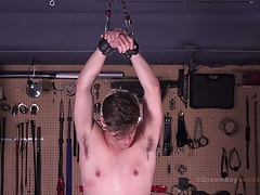 Michael Del Ray Bondage Twink Whipping BDSM Single Tail Whip