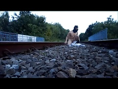 stripping on the tracks