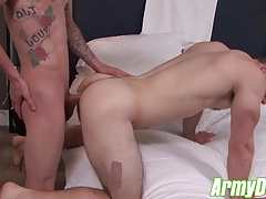 Ryan fills Ivans tight ass hole with his big hard dick