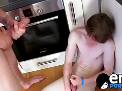 Adorable emo twinks having rough anal sex in a kitchen