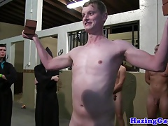 Straight twinks hazed with anal pounding