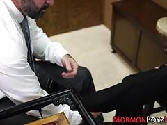 Mormon bear fucks twink
