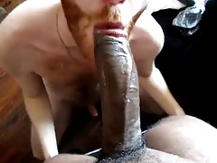 Twink BBC sucker takes the load down his throat