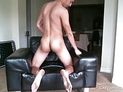 Skinny Amateur Alex Strokes His Big Dick