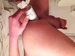 Playing with a dildo in my ass