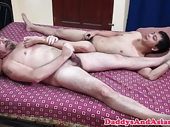 Feet tickling daddy breeding pinoy closeup