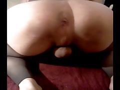 showing off my sissy shaven ass