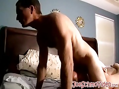 Two hunks one chubby and one skinny love jerking off cocks