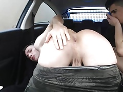 Car Bareback Fuck