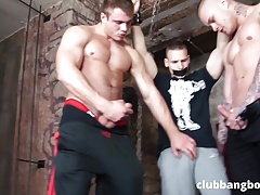 Twink taken by 2 guys tied n fucked in dungeon TWINKERD.com