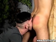 Real erect cock gay He's been given the delicious Oli Jay to play with