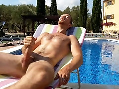 Huge Cock Young Muscle Twink Solo Wank and Cum
