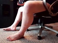 Crossdressing trying on new stockings (Leg and Foot Fetish)
