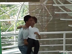 Asian Boys Argie and Chi Barebacking