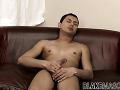 Ebony twink Buster Fuego-Butt plays with his rod solo