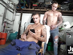 Sexy Dom and Ryan taking banging break