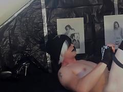 Emo femboy in overknees jerks off - KinkyChrisX